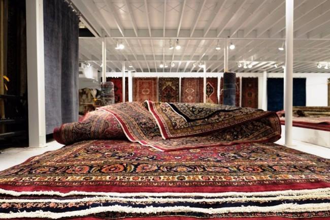 pile of persian rugs