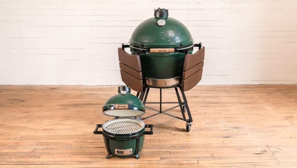 Big Green Grill big closed up and small open