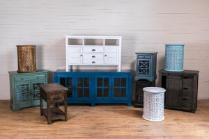Jofran wooden cabinets side tables