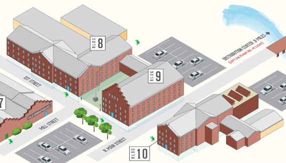 buildings 8, 9 and 10 map