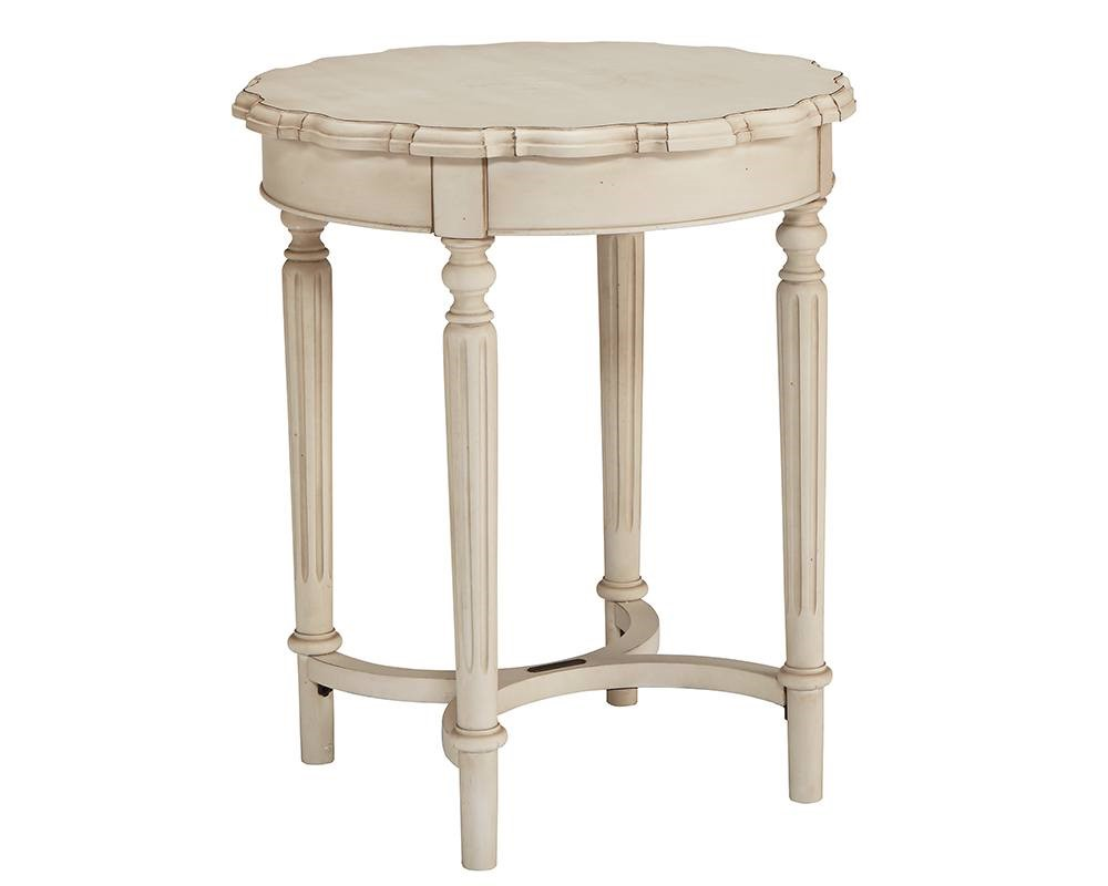 Pie Crust Side Table in White