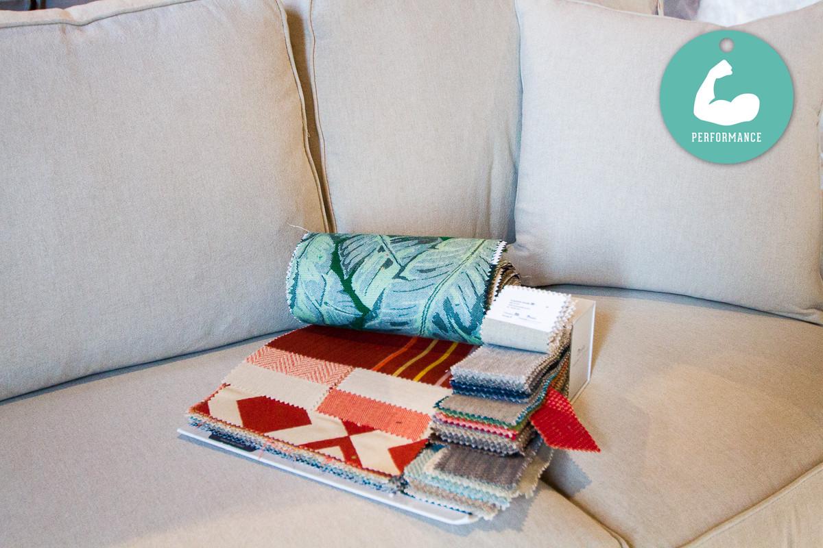 Performance fabrics for spotless decor
