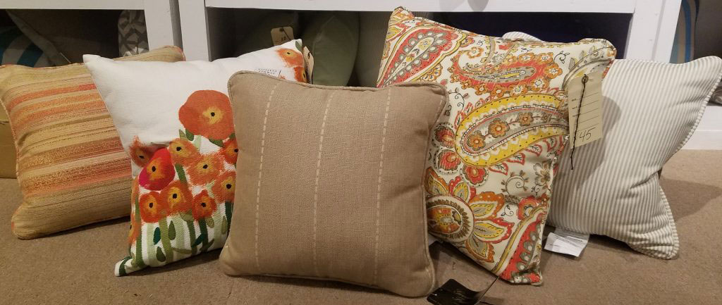 autumn colored pillows