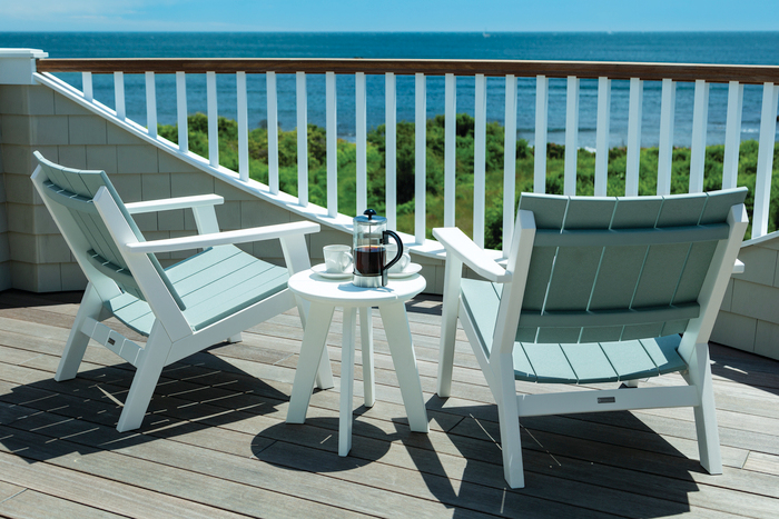 seaside casual chat chairs