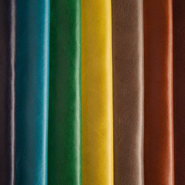 Aniline leathers
