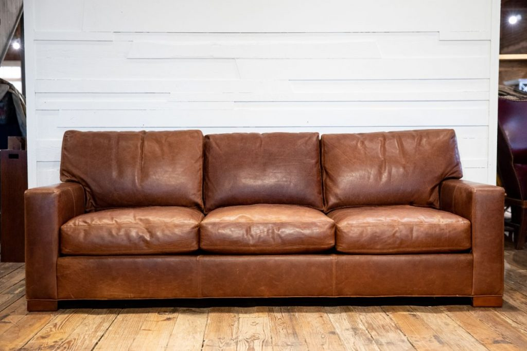 Whittemore Sherril leather sofa