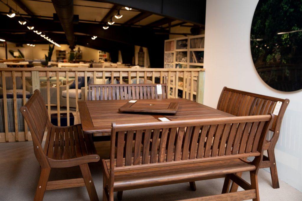 Jensen Ipe wood dining set